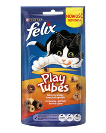 FELIX Play Tubes Pochúťky pre mačky kura a pečeň 50 g