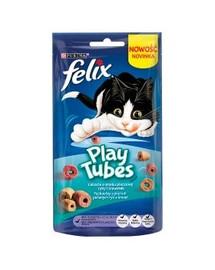 FELIX Play Tubes Pochúťka pre mačky ryby a krevety 50 g