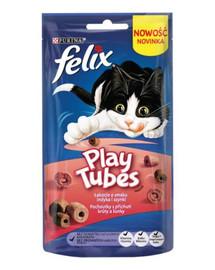 FELIX Play Tubes Pochúťky pre mačky morčacie mäso a šunka 50 g