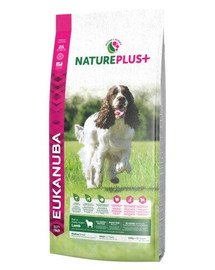 EUKANUBA Nature Plus+ Adult Medium Breed Rich in freshly frozen Lamb 10 kg