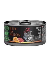 ALPHA SPIRIT Krmivo pre psov v konzerve Hovädzie mäso s melónom 150 g