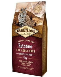CARNILOVE Carnilove Reindeer for Adult Cats – Energy & Outdoor 2kg