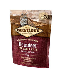 CARNILOVE Cat Grain Free Reindeer Adult Energy & Outdoor 400g