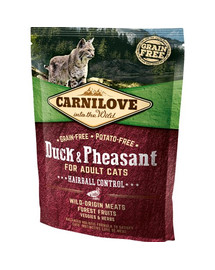 CARNILOVE Cat Grain Free Duck & Pheasant Adult Hairball Control 400 g