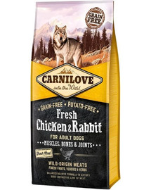 CARNILOVE Fresh Fresh Adult Chicken & králik 12 kg