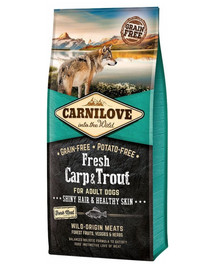 CARNILOVE Fresh Carp & Trout for Adult 12 kg