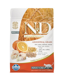N&D Low Grain CAT Adult Codfish & Orange 5 kg