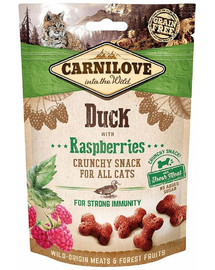 CARNILOVE Cat Crunchy Snack Duck&Raspberries 50g