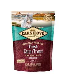 CARNILOVE Cat Adult Sterilised Carp & Trout 400 g