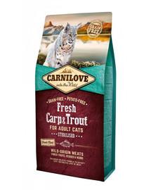 CARNILOVE Adult Sterilised kapor a pstruh 6 kg