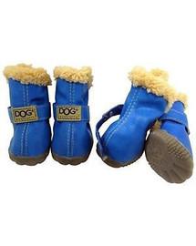 ZOLUX Topánky pre psov T2 (4,5 x 3,5 cm horná výška 7 cm) modré 4 ks