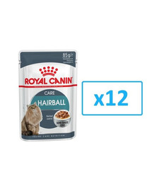 ROYAL CANIN Hairball Care Gravy 85g x 12 kapsička pre mačky v šťave pre správne vylučovanie zámotkov v šťave