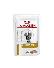 ROYAL CANIN Veterinary Health Nutrition Cat Urinary S/O Pouch in Loaf 12x 85g