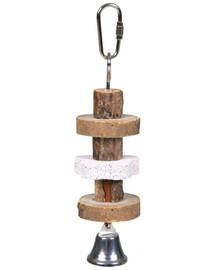 TRIXIE Hračka drevená so zvončekom 16 cm