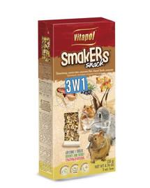 VITAPOL Smakers pre hlodavce - mix 2, 3ks 120g
