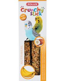 ZOLUX Crunchy Stick pre malé papagáje kokosové orechy banán 85 g