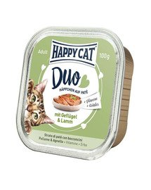 HAPPY CAT Duo set, kuracie a jahňacie 100 g
