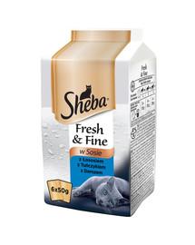 SHEBA Sheba Mini Dania rybacie v omáčke 6 x 50 g