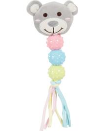 ZOLUX Plyšová hračka pre šteňa, hrkálka so zvukom, sivá