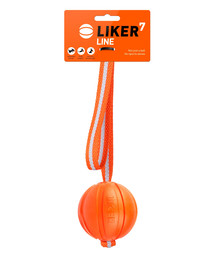 LIKER LINE Dog toy lopta na šnúrke pre psa 7 cm