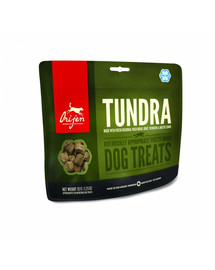 ORIJEN Tundra Freeze Dried Dog – Bezzrnné pamlsky pre psa  42,5 g