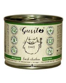 GUSSTO Cat Fresh Chicken pre mačky, čerstvé kura 200 g