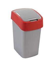 """CURVER Odpadkový kôš """"FLIP BIN"""" 25 l strieborno-červený"""