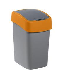 """CURVER Odpadkový kôš """"FLIP BIN"""" 25 l strieborno/oranžový"""