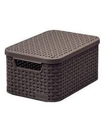 CURVER RATTAN Úložný box Style s vekom - 2 l hnedý