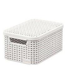 CURVER Úložný box, STYLE, krémový s vekom, veľkosť S