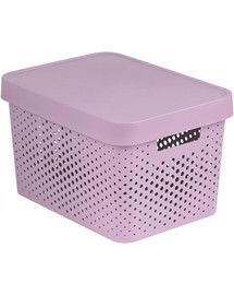 CURVER Box INFINITY DOTS 17L - ružový