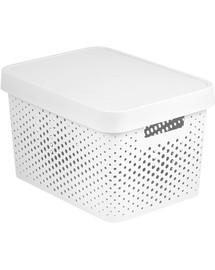 CURVER INFINITY úložný box s vekom 17 l biely