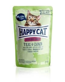 HAPPY CAT All Meat Adult Sterilised Kalb & Lamm 85 g teľa a jahňa