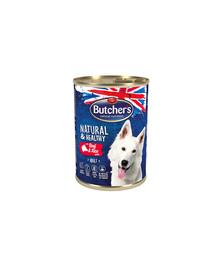 BUTCHER'S Natural&Healthy Dog jahňacie s ryžou pate 390g