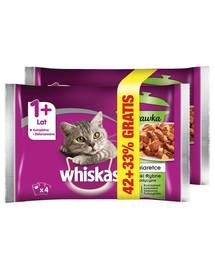 WHISKAS Adult 4x85g Fish Flavourspre mačky v želé