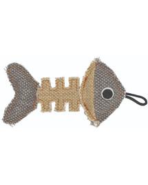 BARRY KING Rybia kostra z odolného materiálu šedo-krémová 14 x 7,5 cm