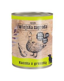 WIEJSKA ZAGRODA Kačka a hruška 800 g Bezobilná konzerva pre psov