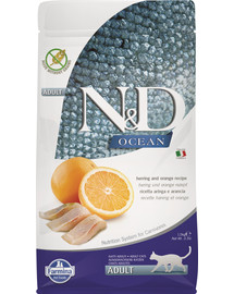 FARMINA N&D Ocean Cat adult herring and orange slede a pomaranč 5 kg
