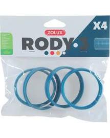 ZOLUX Komponenty Rody 3-spojovací krúžok modrý 4ks