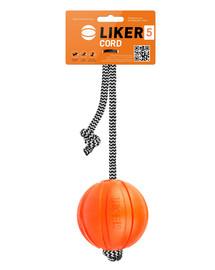 LIKER CORD Dog toy lopta na šnúrke pre psa  7 cm