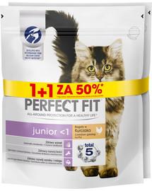 PERFECT FIT (Junior) 750g x 3 Bohaté na kurča - suché krmivo pre mačky 1 + 50%