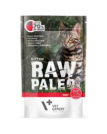 VETEXPERT RAW PALEO Kitten beef 100g hovädzia kapsička pre mačiatka