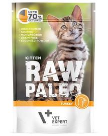 VETEXPERT RAW PALEO Kitten turkey 100 g morčacia kapsička pre mačiatka
