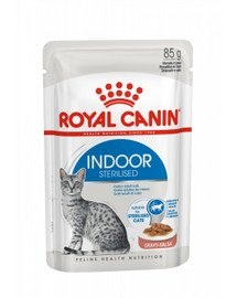 ROYAL CANIN Indoor Sterilised In Gravy Pouch 12x85g