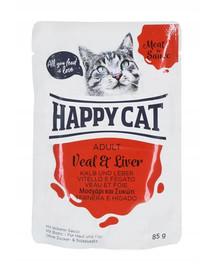 HAPPY CAT MEAT IN SAUCE Adult teľacie a pečeň 85 g