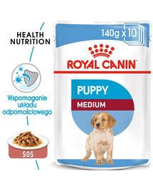 ROYAL CANIN Medium puppy 10x140 g kapsička pre stredné šteňatá