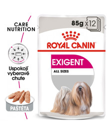 ROYAL CANIN Exigent Dog Loaf 85g x12 kapsička s paštétou pre maškrtné malé psy