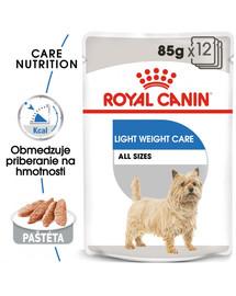 ROYAL CANIN Light Weight Care Dog Loaf 12x85g diétna kapsička s paštétou pre psy