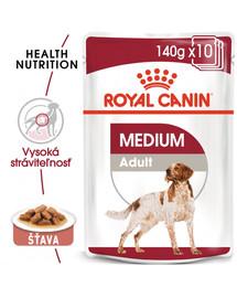 ROYAL CANIN Medium adult 10x140 g kapsička pre dospelé stredné psy