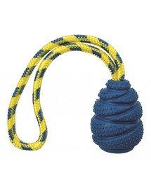 TRIXIE Gumová hračka Sporting Jumper s lanom z prírodnej gumy, 7 cm / 25 cm